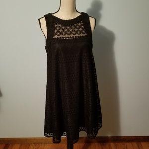 Donna Morgan Black Lace Shift Dress